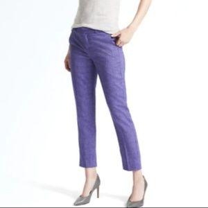 Banana Republic Purple Herringbone Avery Trousers